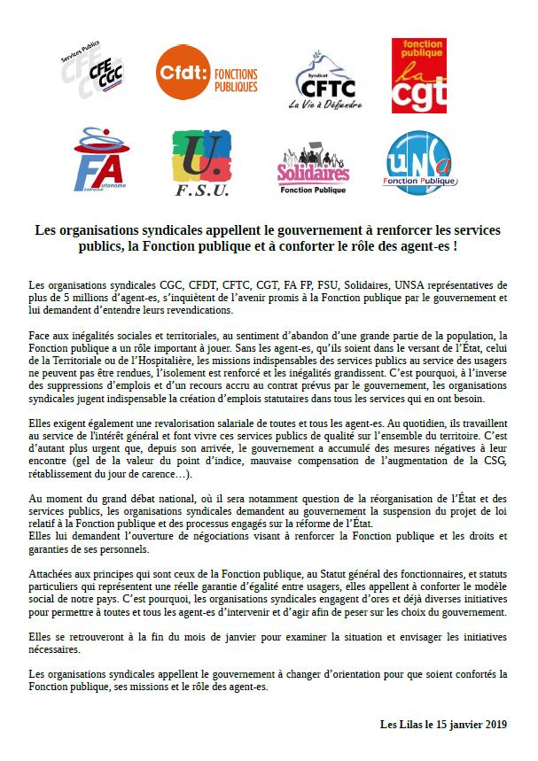 7e202b67213 Enjeux de société  Service Public Fonction Publique  15 janvier 2019