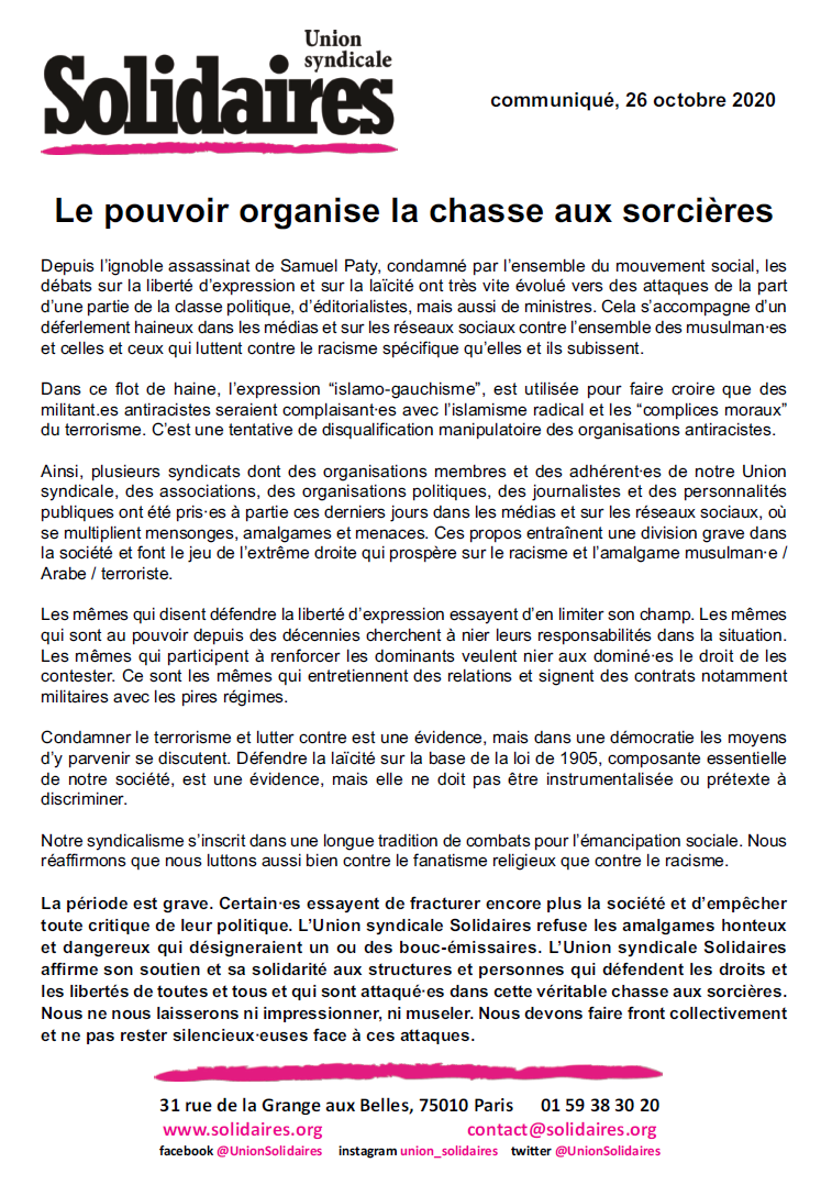 solidaires finances