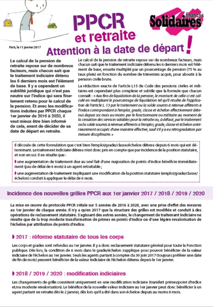 Ppcr Attention A La Date De Depart A La Retraite