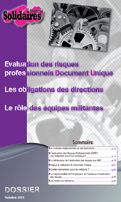 Evaluation des risques professionnels - Document Unique